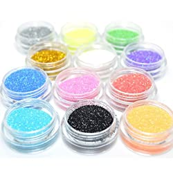 Kleancolor 3 D Nail Art Decoration Professional Holo Galore Glitter Powder + Free Earring