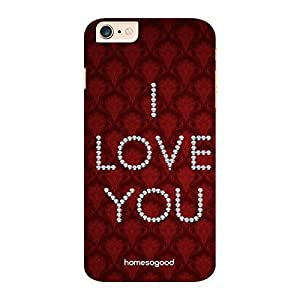 HomeSoGood Jewel Presented Love Brown 3D Mobile Case For iPhone 6 Plus (Back Cover)