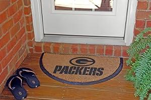 Buy Green Bay Packers Memory Company Team Half Moon Doormat NFL Football Fan Shop Sports Team... by Memory Company