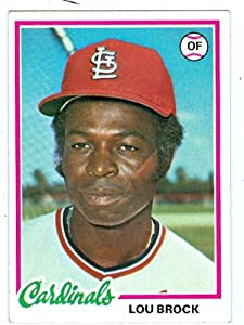 Lou Brock baseball card 1978 Topps #170 (St. Louis Cardinals Hall of Famer) by Hall of Fame Memorabilia