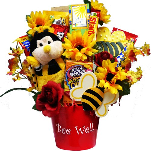 Art of Appreciation Gift Baskets Bee Well Soon Chocolate and Candy Bouquet Gift Set (Cheer Up Care Package compare prices)