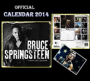 BRUCE SPRINGSTEEN OFFICIAL CALENDRIER CALENDAR 2014 + BRUCE SPRINGSTEEN AIMANT DE REFRIGERATEUR