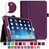iPad mini Case - Fintie iPad mini 3 / iPad mini 2 / iPad mini Folio Slim Fit Vegan Leather Case with Smart Cover Auto Sleep / Wake Feature, Purple