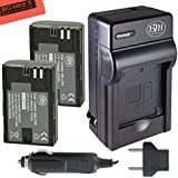 Pack of 2 LP-E6 Replacement Batteries And Charger Kit For Canon EOS 60D, EOS 70D, EOS 5D II, EOS 5D III, EOS 6D, EOS 7D Digital SLR Camera + More!!