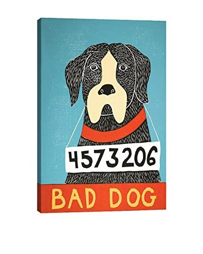 Stephen Huneck Bad Dog Boxer Gallery Wrapped Canvas Print