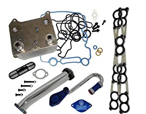 Basic Solution Kit for Ford 6.0L Powerstroke With Sinister EGR Delete Kit, Oil Cooler and Intake Gaskets