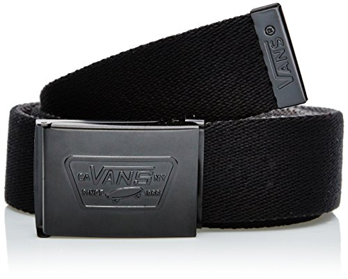 Vans - M KNOX WEB BELT BLACK, Cintura da uomo, nero (schwarz  (black)), Taglia unica