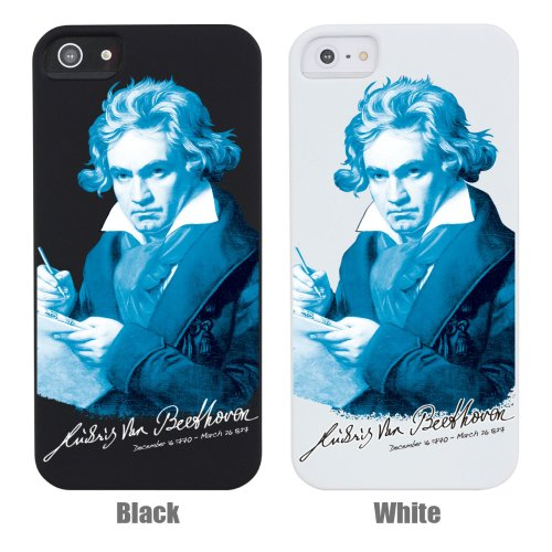 GENIUS ルートヴィヒ ヴァン ベートーヴェン (3) 【ブラック】 天才 作曲家 楽聖 Apple iPhone5 iPhone5s ケース カバー スマホケース クリア iphone5 ケース iPhoneケース アイフォン5 iPhone 5 スマホ アイフォーン5ケース アイフォン5 ihone ハードケース アップル ip5 ip5s