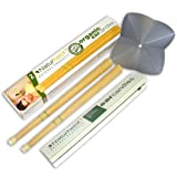 Naturhelix 100% Organic Pure Beeswax Ear Candles with filter & protective disk *1 pair* P+P FREE in UK