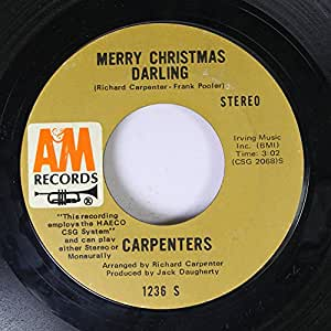 Carpenters Carpenters 45 Rpm Merry Christmas Darling