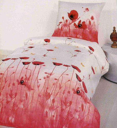 bettw sche de mohnblumen seersucker wendebettw sche baumwolle 135x200 cm. Black Bedroom Furniture Sets. Home Design Ideas