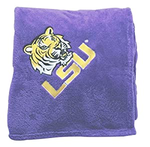 Buy LSU Tigers Embroidered Fleece Throw (50 x 70-inch) by Scene Weaver