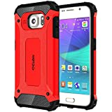 Cubix Impact Hybrid Armor Defender Case For Samsung Galaxy S6 (Red)