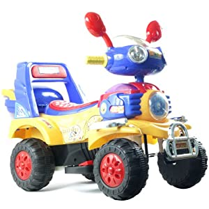 EZ Riders HL819-6 Battery Operated 4 Wheel Vehicle Blue/Yellow/Red