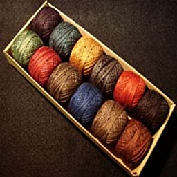 Valdani Perle Cotton Size 12 Embroidery Thread Country Lights Set 1 Sampler
