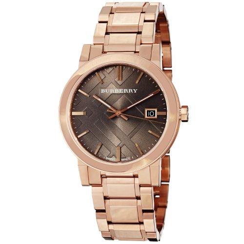 Burberry BU9005 - Reloj de mujer de cuarzo marrón con correa de acero (Second-hand, cristal zafiro)