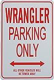 ジープ・ラングラーの駐車場サイン WRANGLER Parking Only Sign - Jeep