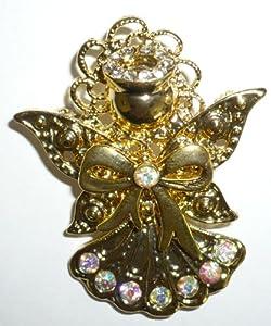 Goldplated Crystal Angels Pin