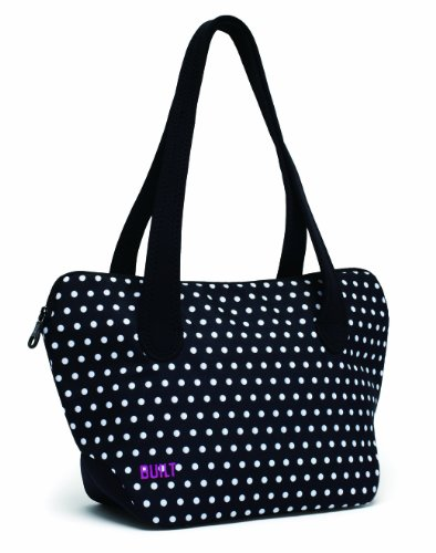BUILT NY Soho Shoulder Lunch Tote, Mini Dot Black and White - 1