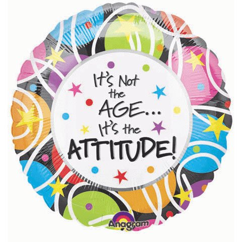Anagram International Hx its Not the Age its Attitude Flat Balloon, Multicolor