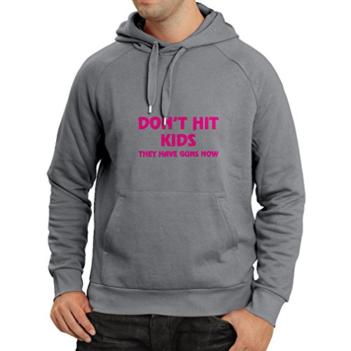 'N4084H Felpa con cappuccio Don''t hit Kids gift (Small Grafite Magenta)'