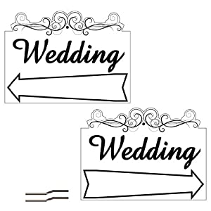 "18""x24"" 2 Sided Wedding Arrow Design - Lesbian Wedding Planning"