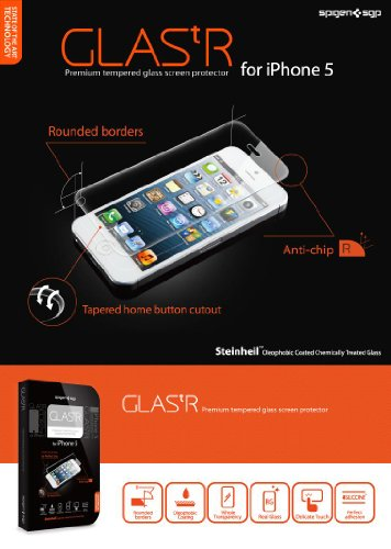 SGP iPhone5 GLAS.tR Premium Tempered Glass 強化ガラス製液晶保護 for iPhone 5