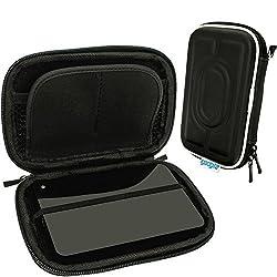 iGadgitz Black EVA Hard Travel Case Cover for LaCie Porsche Design 500GB 1TB 2TB, Design Slim 120GB (SSD) 250GB (SSD) 500GB & Mirror 1TB Portable External Hard Drives