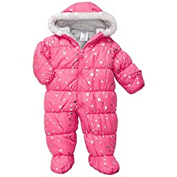 Carter\'s Baby Girls\' Bunting (Snowsuit) (3-6 Months, Girl Pink)