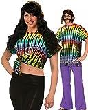 Forum Novelties Women's Hippie Costume Peace Sign Tank Top, Multi, One Size