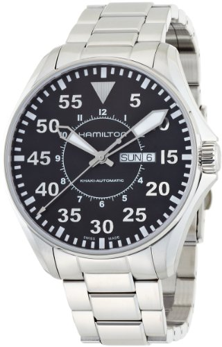 Hamilton Men's H64715135 Khaki King Pilot Black Day Date Dial Watch