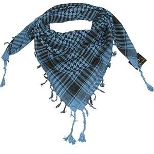 Blue Desert Scarf  Try these trendy desert scarves  Shemagh  Keffiyeh