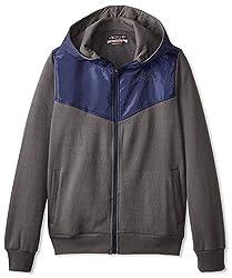 Kappa Men's Vareta Sport Fleece Jacket, Grey/Navy, S