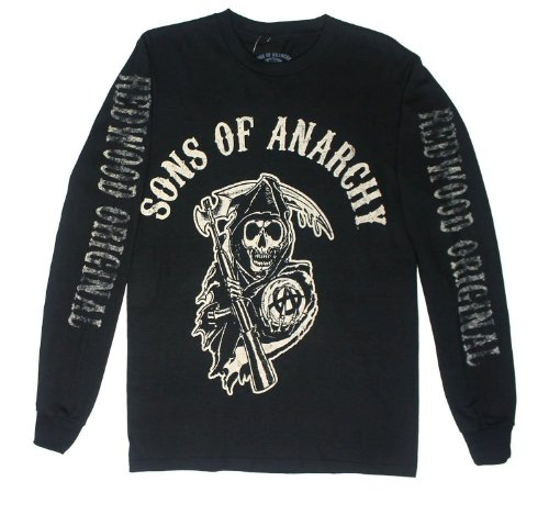 Sons Of Anarchy Fear The Reaper Long Sleeve Black T-Shirt (XXXL) (Sons Of Anarchy Shirt)