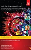 Adobe Creative Cloud Student and Teacher Edition Membership 12 Month Membership