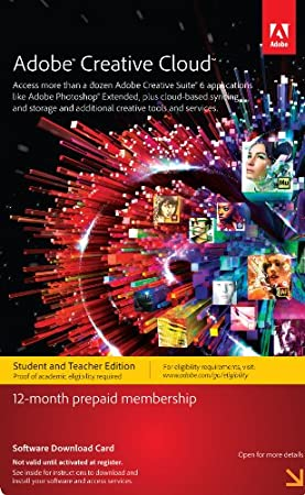 Adobe Creative Cloud Student and Teacher Edition Membership 12 Month