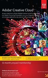 Adobe Creative Cloud Student and Teacher Edition Prepaid Membership 12 Month
