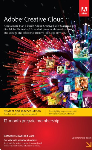 Adobe Creative Cloud Student and Teacher Edition Prepaid Membership 12 Month Review