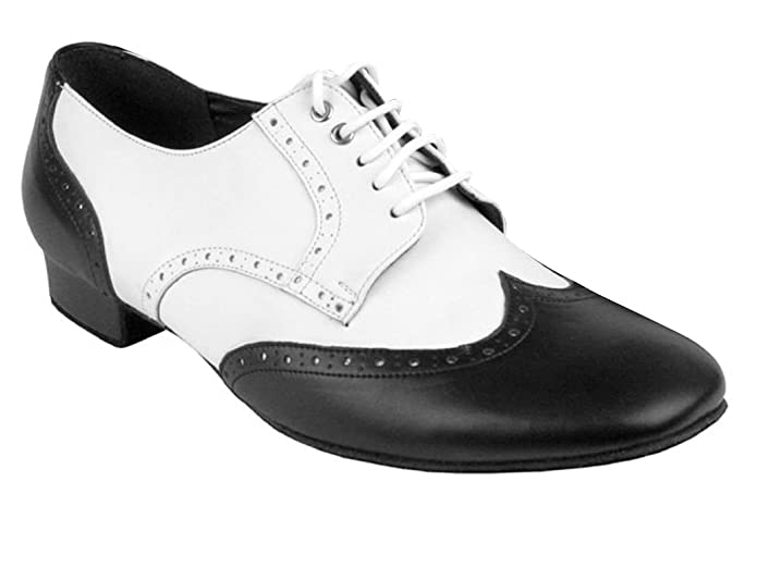 1940s Style Mens Shoes Mens Spectator Swing Shoes $74.95 AT vintagedancer.com
