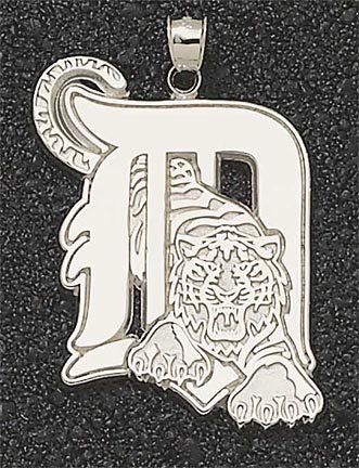Detroit Tigers Giant 1 3 8 W x 1 3 4 H D Pendant - 14KT Gold Jewelry by Logo Art