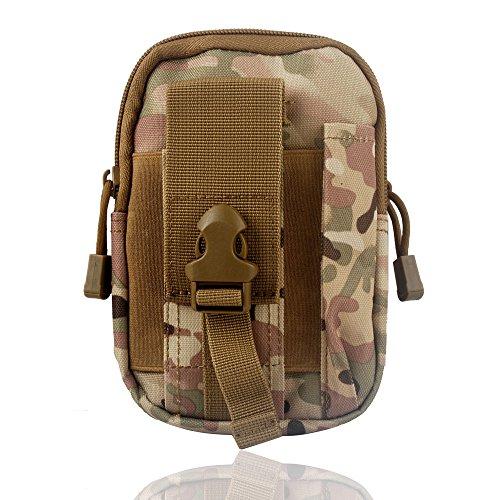 Wasserdichte 1000D Nylon Camouflage Tactical MOLLE Universal-Multifunktions -große Kapazitäts-Outdoor-Camping-Wandern praktische Gerät Beutel (Farbe 7)