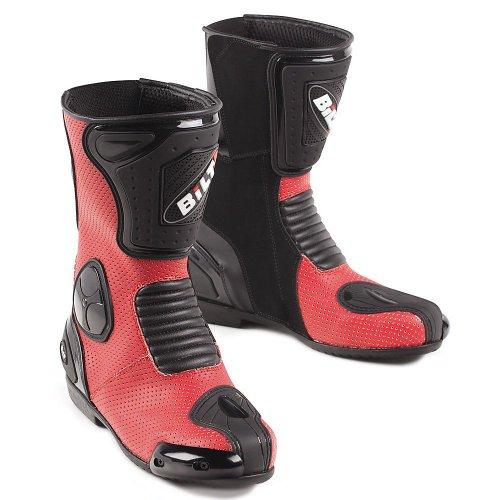 bilt trackstar leather motorcycle boots 10