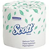 Kimberly-Clark Scott 13607 2-Ply Standard Roll Bathroom Tissue, White (20 Rolls of 550)