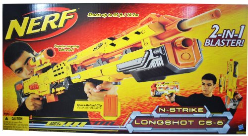 2-In-1 Blaster N Strike Longshot CS-6 Nerf Sniper Rifle