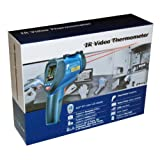 Ruby Electronics DT-9862 Professional 50:1 IR Dual Laser Video Thermometer up to 3992 deg F 2200 deg C, Type K Thermocouple, Air, Dew Point, Wet Bulb Temp and Air Humidity Meter with Camera and USB Interface (Color: Gray & Blue)