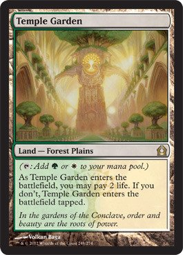 Magic: The Gathering - Temple Garden (248) - Return To Ravnica front-705225