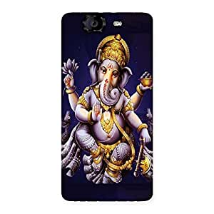 Impressive Dancing Ganesha Back Case Cover for Canvas Knight A350