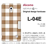 docomo Optimus G Pro L-04E ケース Optimus G Pro L-04E カバー ケース・ジャケット【チェック2(茶)/l04e-M857】