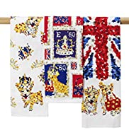 3 Coronation Tea Towels