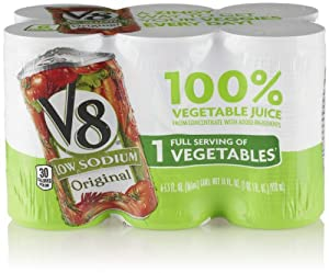 V8 Red Vegetable Juice, Low Sodium (6 Count, 5.5 Fl Oz Each)